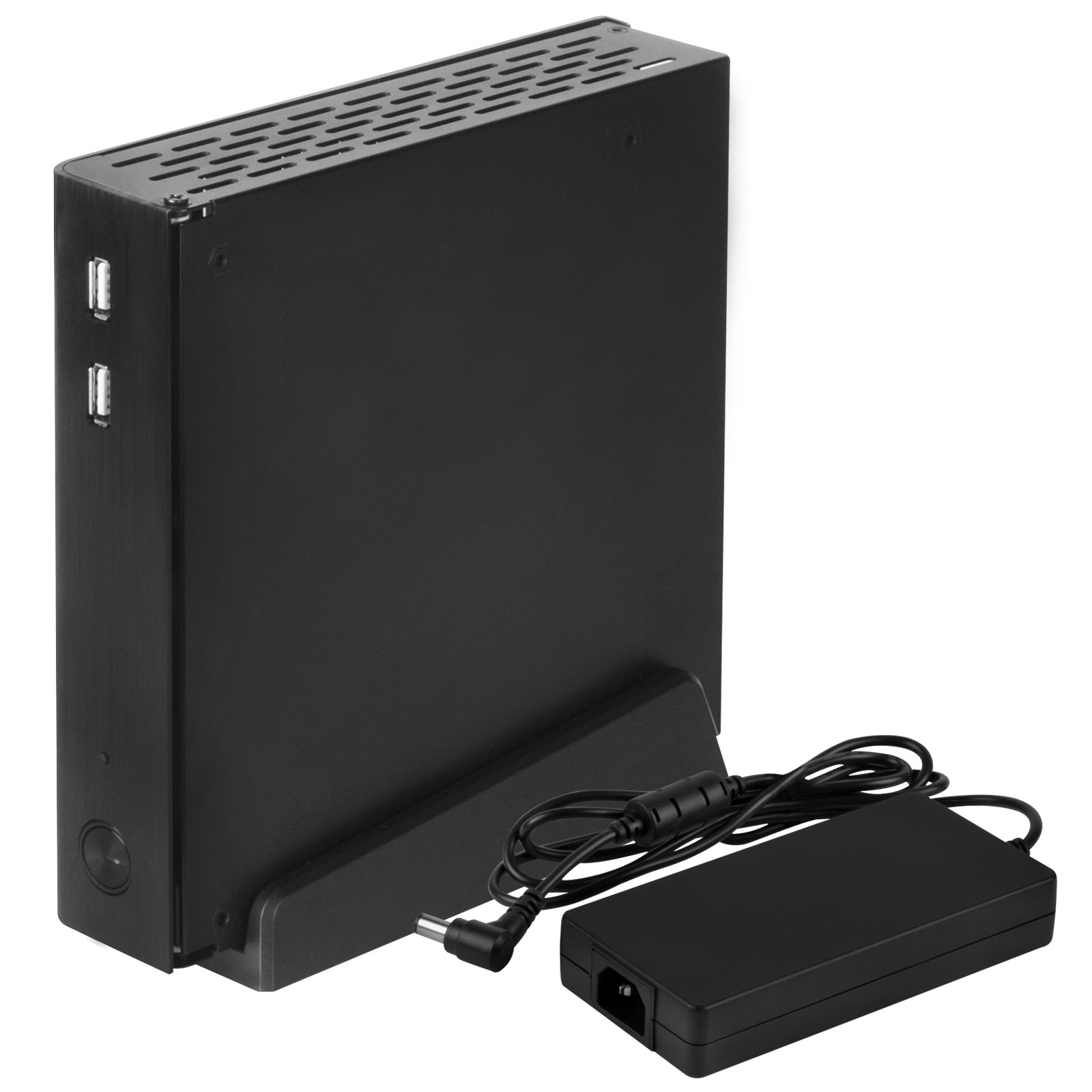SilverStone Technology Thin-Mini ITX Aluminum Case with 120W External Power Adapter (PT13B-120) by SilverStone Technology (Image #2)