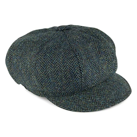 3c620a676fbdc Olney Hats Maggie Harris Tweed Baker Boy - Forest Forest 1-Size ...