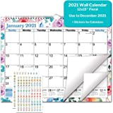 CRANBURY Wall Calendar 2020-2021 (Floral), Big Wall Calendar 2020 2021 15x11.5 Inches, Use Now to December 2021, for School Y