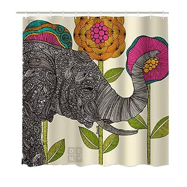 Lebather Fabric Shower Curtains Elephant Bohemian Print Design Waterproof Decorative Bathroom Curtain for Indoor Outdoor,71 x 71 Inch (Elephant 2)