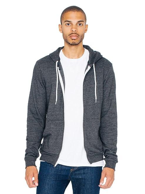 American Apparel Men Tri-Blend Zip Hoodie