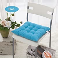 Home Office Indoor Square Chair Pads Pillows Colorful Seat Cushions with Ties,Set of 4pcs