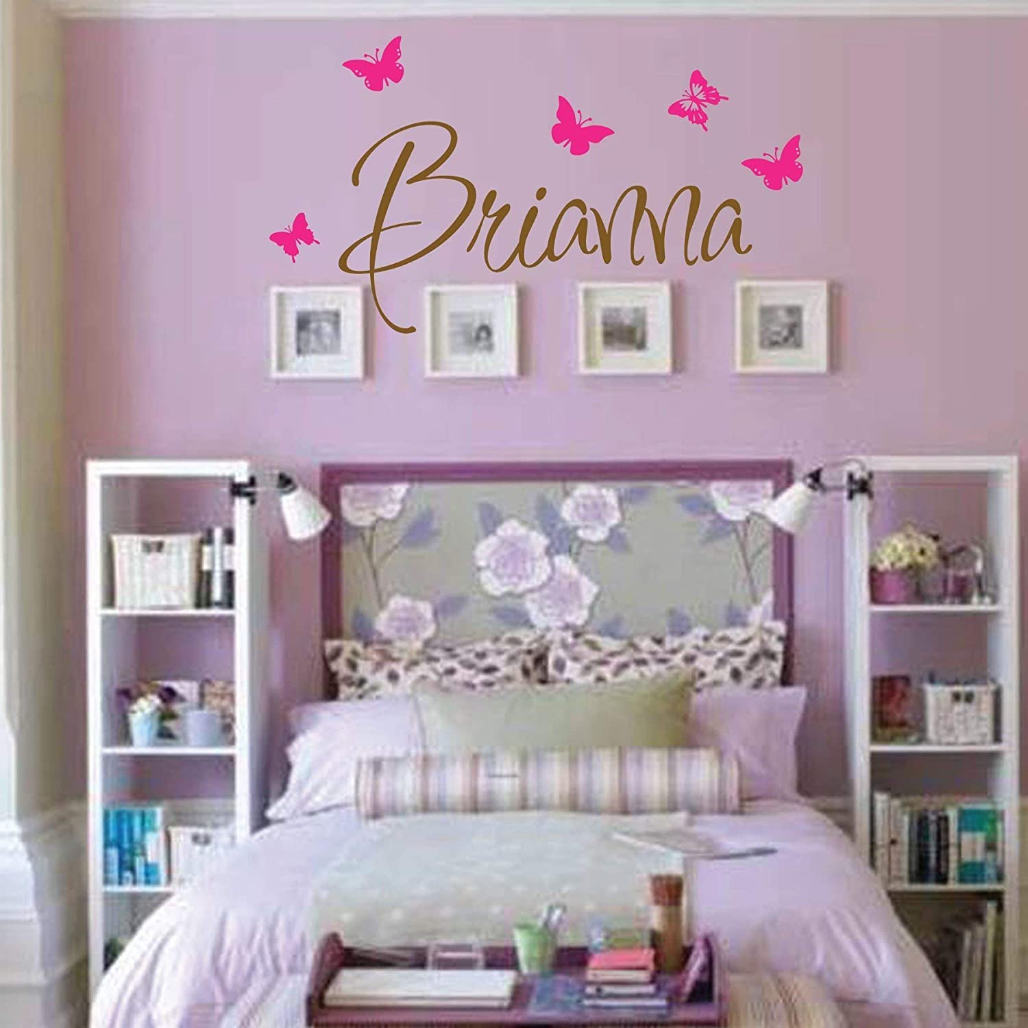 B016B0O0F8 Personalized Monogram Kids Wall Decals - Girls Wall Decal- Name Vinyl Lettering - baby girl nursery wall decal Brianna 71qF2BUUtGTL