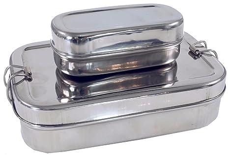 Guru-Shop Caja de Acero Inoxidable de Almuerzo, Caja de ...