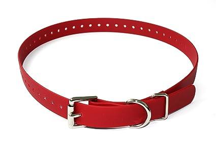 Educator ET-RUC034 Biothane Collar 3//4-Inch Red