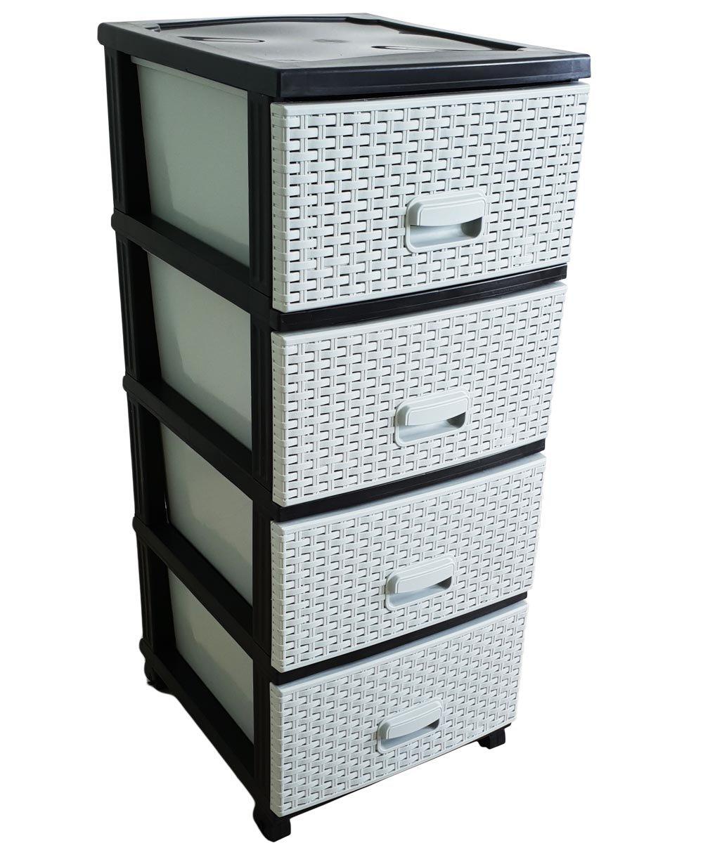Kaiser Handel Schubladenschrank Rollcontainer In Rattan Optik Aus