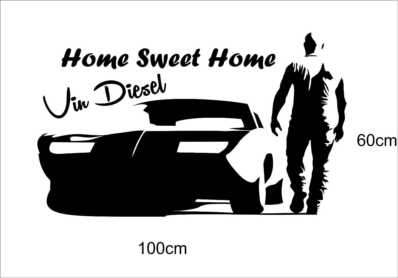 Cool Wandtattoo Home Sweet Home Sammlung Von Vin Diesel (schwarz Matt 100x60cm): Concept.de: Küche