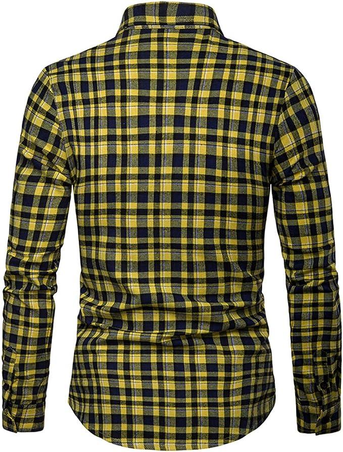 Camisa larga para hombre, con tallado tallado: Amazon.es ...