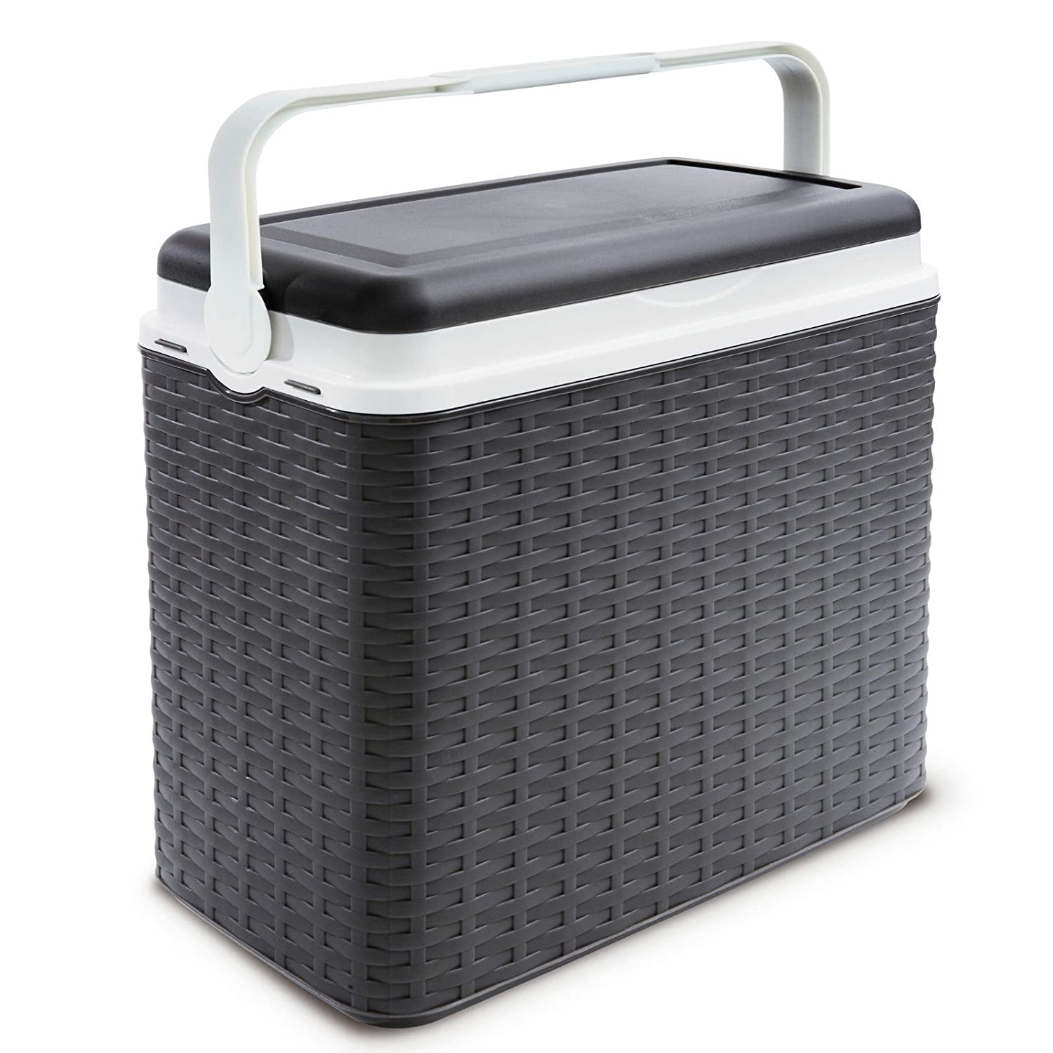 2 Ice Packs Large 24 Litre Cooler Rattan Box Camping Beach Lunch Picnic Insulated Food