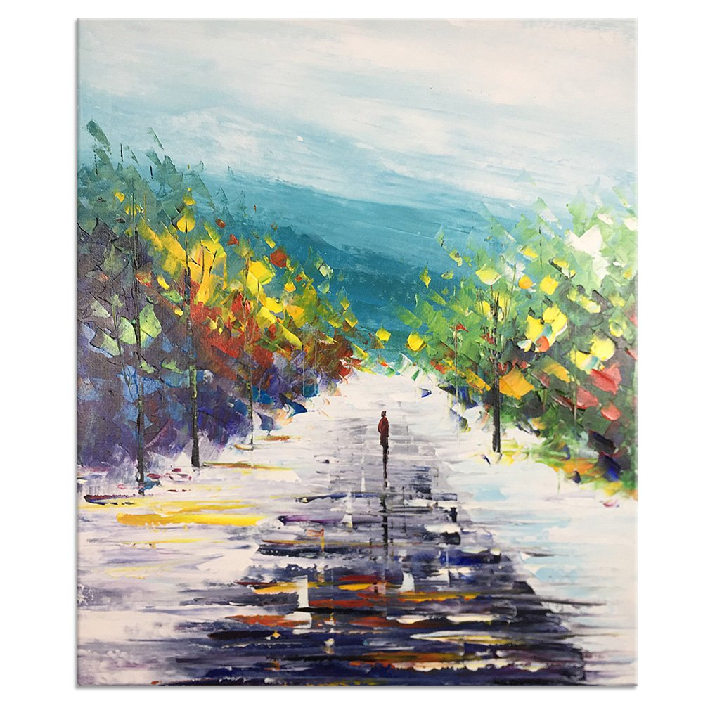Yqm Art Abstract Painting On Canvas Scenery Painting Abstract Landscape Painting Hand Painting Art Artwork Online Buy Artwork Online Wall Modern Canvas Oil Paintings Cheap Paintings Online Amazon In Home Kitchen