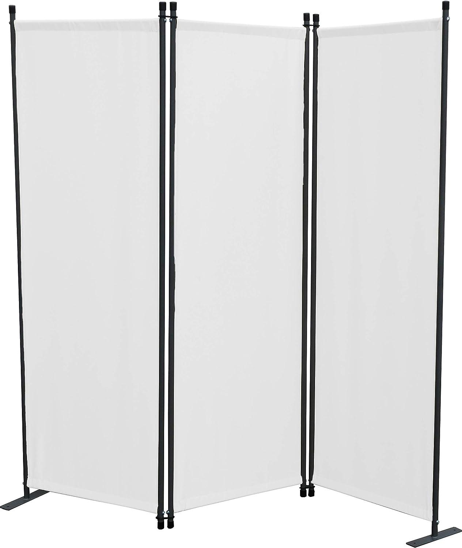 GRASEKAMP Qualität seit 1972 - Biombo de 3 Piezas, Panel de separación, protección Visual, balcón, Color Blanco: Amazon.es: Hogar