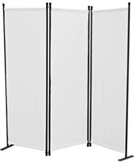 Paravent 4tlg Raumteiler Trennwand Sichtschutz Weiß Amazonde