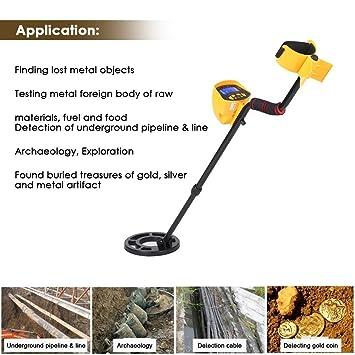 TOPQSC Detector de metales Cavador de oro MD3010II Buscador de metales Cazador de tesoros de alta sensibilidad: Amazon.es: Jardín