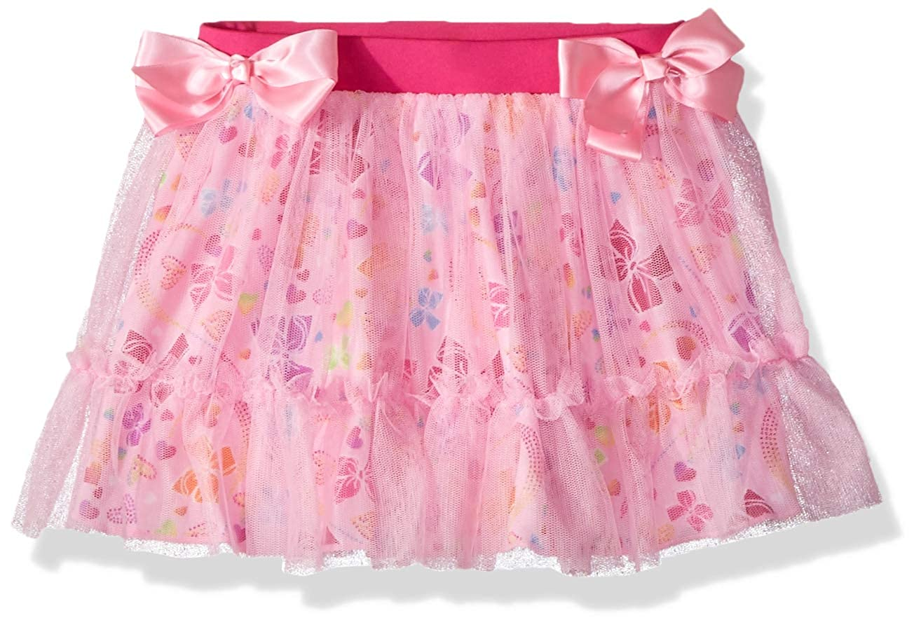 Jojo Siwa By Danskin Girls' Big Rainbow Bows Layered Skirt -
