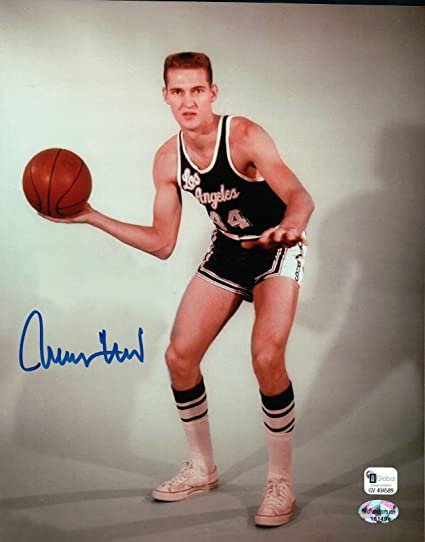 d2ca86f7704 Jerry West Signed 8X10 Autograph Los Angeles Lakers Pose with Ball GAI COA