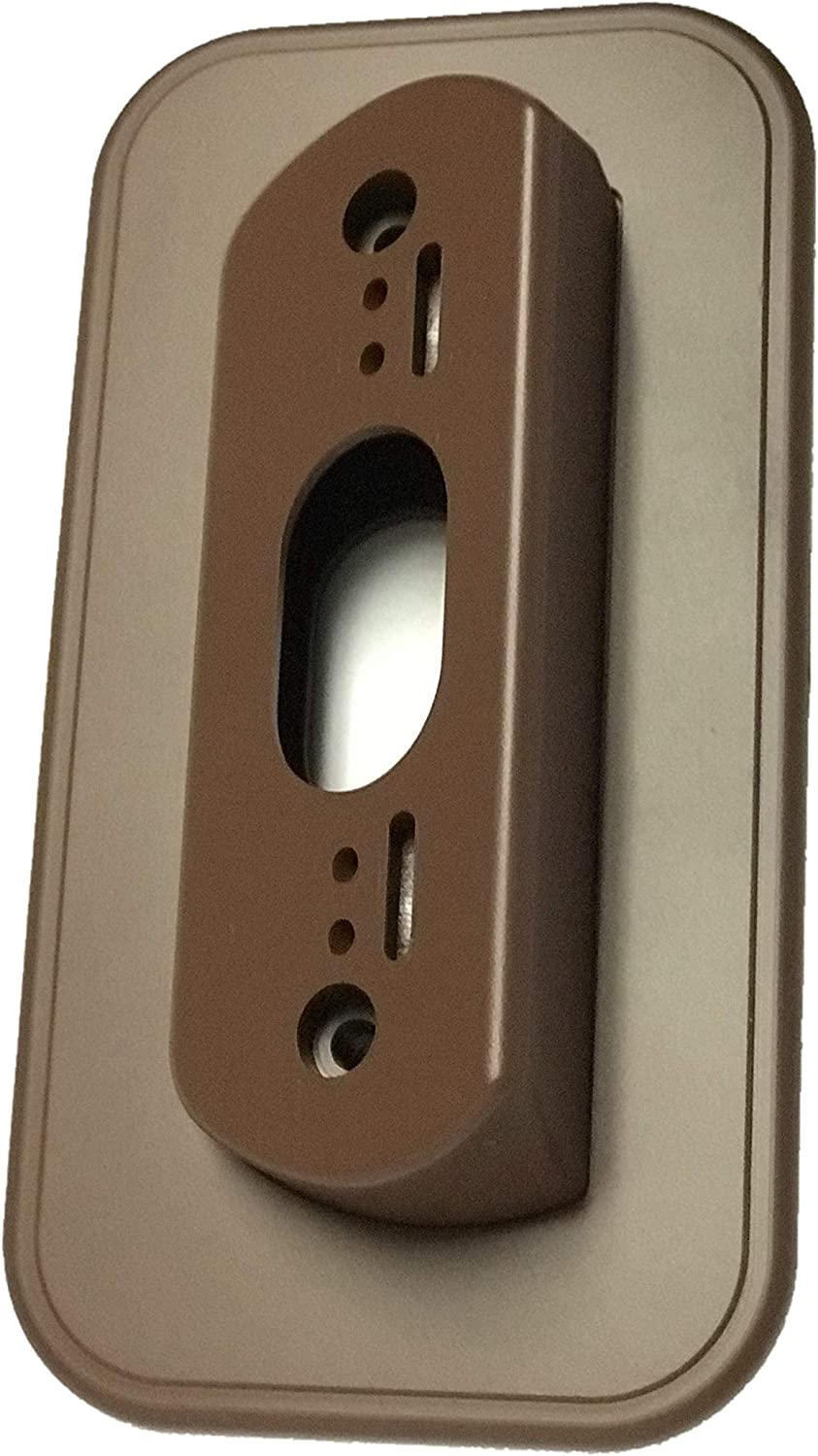 Wall Plate with 30 Degree Angle Mount for Nest Hello Video Door Bell - Coffee