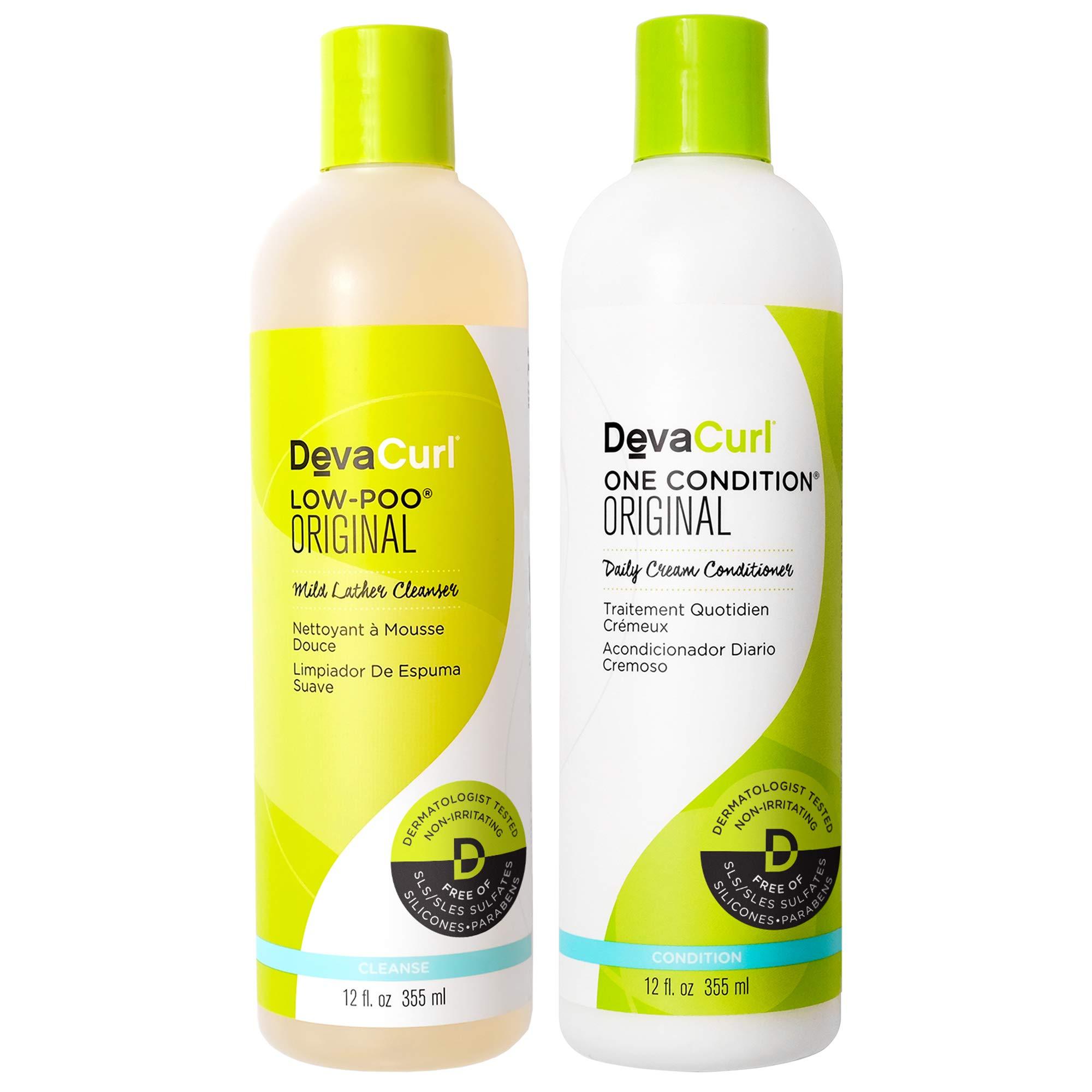 DevaCurl Low-Poo Original 12oz + One Condition Original 12oz Combo