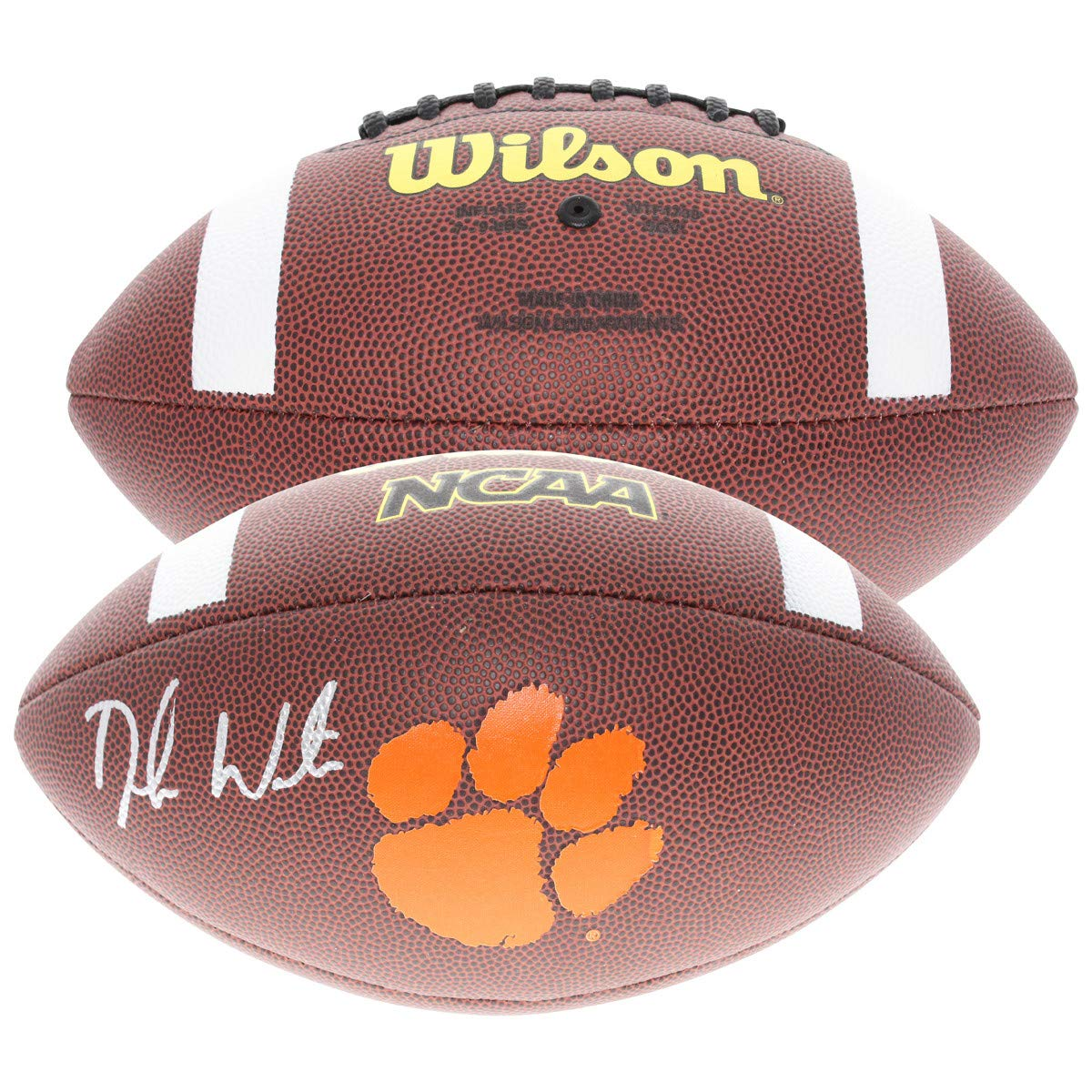 e8002209669 Deshaun Watson Autographed Signed Clemson Tigers Wilson Logo Football -  Beckett Authentic at Amazon's Sports Collectibles Store