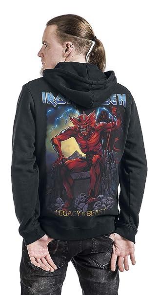 Iron Maiden Legacy of The Beast 2 - Devil Sudadera Capucha con Cremallera Negro M: Amazon.es: Ropa y accesorios
