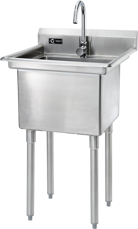 - Amazon.com: TRINITY Stainless Steel Utility Sink, 23.3