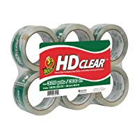 Deals on 6-Pack Duck HD Clear Heavy-duty Packaging Tape 3-inch Core