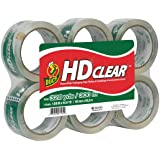 Duck HD Clear Heavy Duty Packaging Tape Refill, 6 Rolls, 1.88 Inch x 54.6 Yard, (441962)