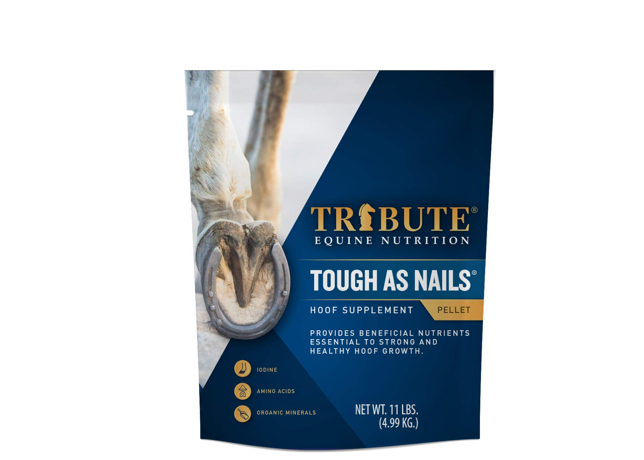 Tribute Tough As Nails 11lbs Pelleted Hoof Supplement by TRIBUTE