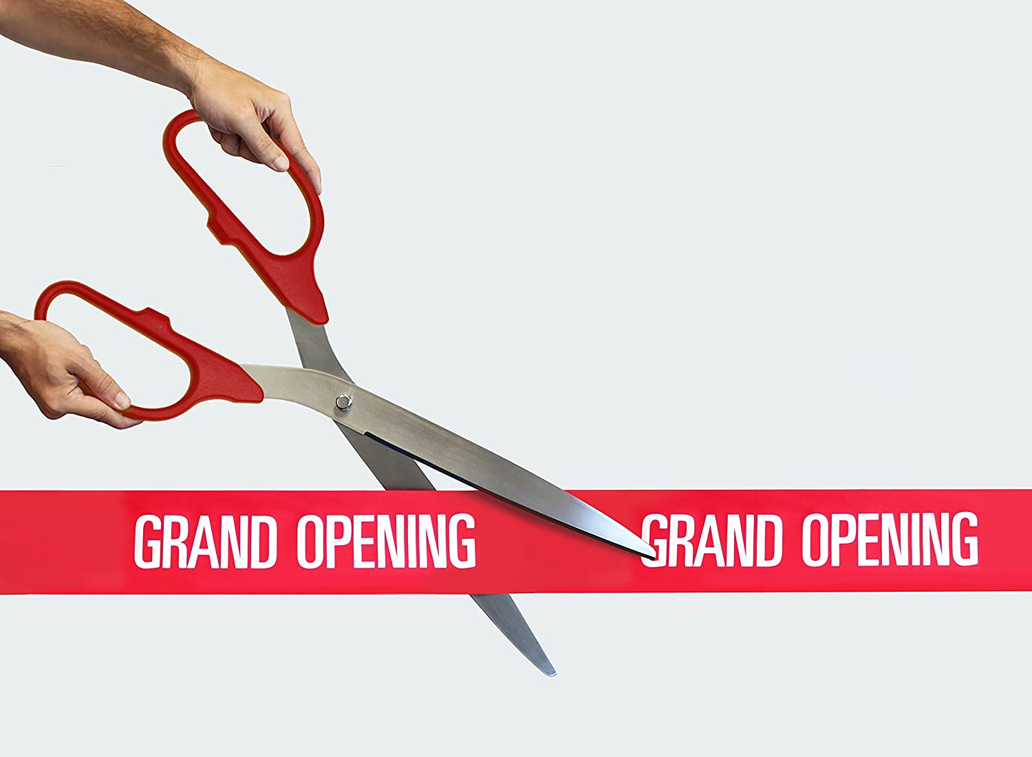 "25/"" Red//Silver Ceremonial Ribbon Cutting Scissors for Grand Opening"