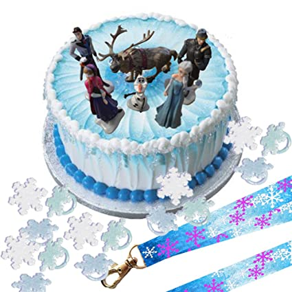 Amazoncom Disney Frozen Cake Decoration Set Topper Figures