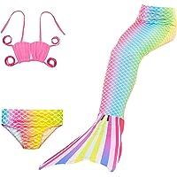 Pettigirl Trajes de Baño niñas 3pcs Sirena Cola Conjuntos Sea Maiden Trajes de Baño Bikini 4-7 años