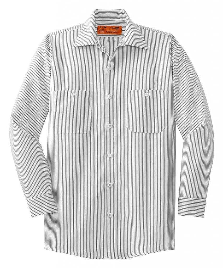 f1a426c9d Amazon.com: Red Kap Mens Long Sleeve Striped Industrial Work Shirt: Clothing