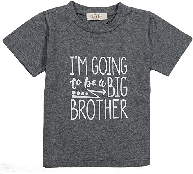 US Stock Casual Big Brother Baby Boy Short Sleeve Tee Shirt Tops Summer Clothes