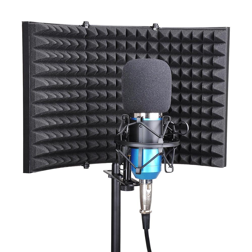 AW Studio Microphone Isolation Shield Acoustic Foam Panel Soundproof Filter Recording Panel Stand Mount by AW (Image #6)