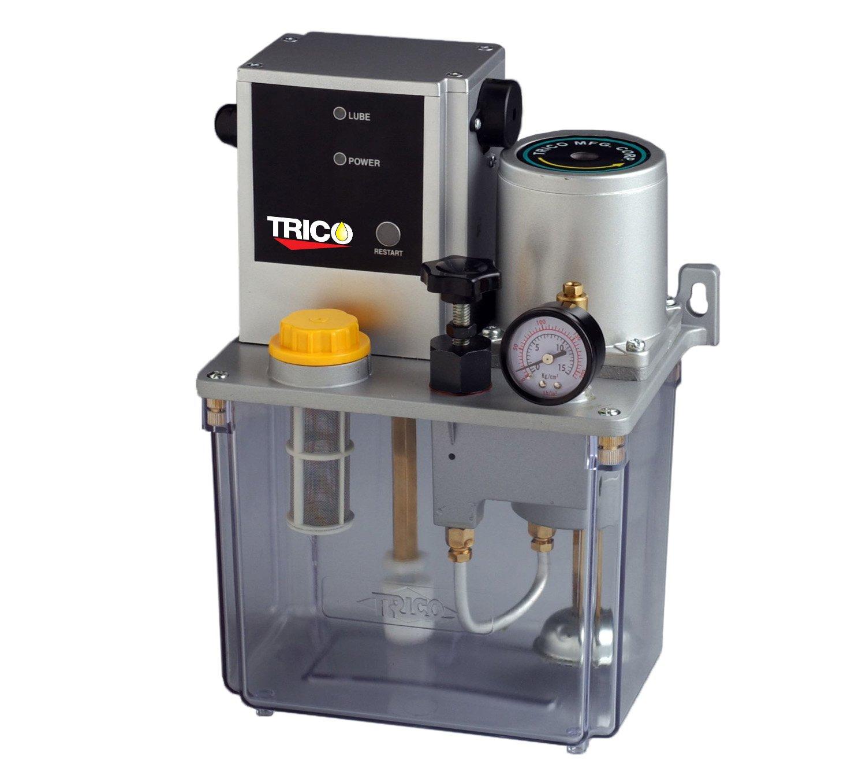 Trico PE-4408 Central Lubrication Standard Positive Displacement Injector Pump, 8L Reservoir Capacity, 100 cc/min Maximum Flow, 110V