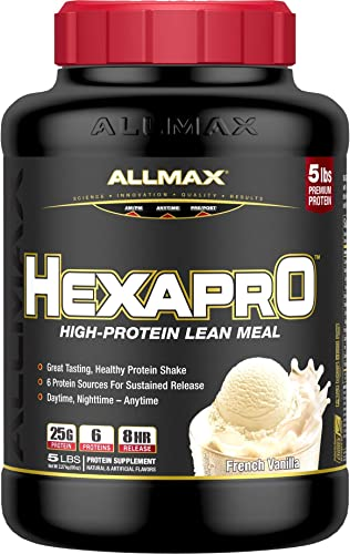 HEXAPRO – Ultra-Premium 6 High Quality – Sustained-Release Protein Matrix – Vanilla – 5 Pound