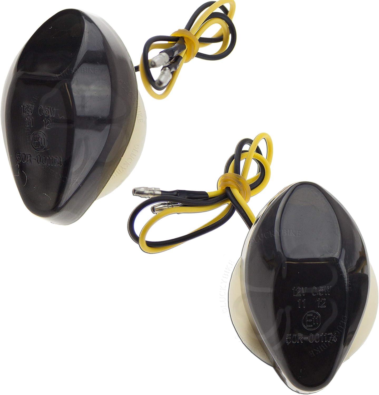 LED Turn Signal Flush Mount For Honda CBR 600 1000 RR 500R Light Blinker Smoke