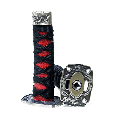 Kei Project Katana Samurai Sword Shift Knob Shifter Katana VIP Metal Weighted with Adapters Fits Most Cars (Black/Red): Automotive