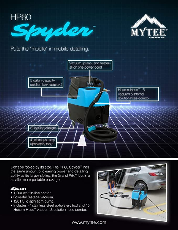 Mytee HP60 Spyder Automotive Detail Extractor for sale online