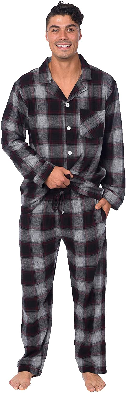 PLATINUM SPORT Mens 100/% Cotton Yarn-Dyed Flannel 2 Piece Pajama Set