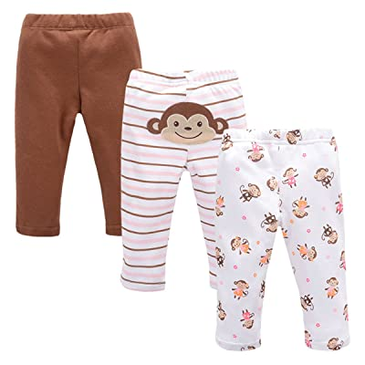 Achma Baby Girl's Baby Boy's 3 Pack Organic Cotton Pants