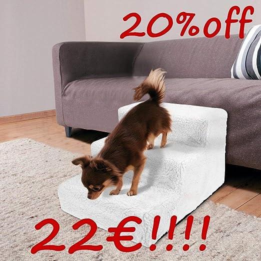 qulista Perros Escaleras sofá plegable 45 cm 3 niveles einstieg ayuda para pequeñas/niño/Antiguos/con espalda de Articulación de O problemas perro mascota, escalera desenfundable auxiliares para la articulaciones: Amazon.es: Productos para mascotas