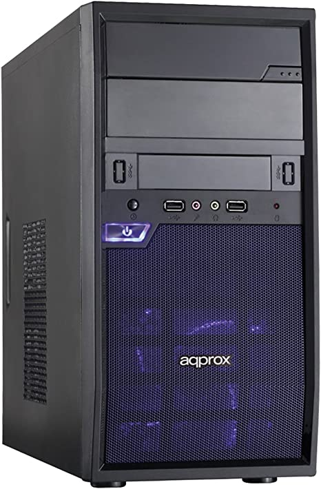 Approx Edison Torre Negro - Caja de Ordenador (Torre, PC, SPCC ...