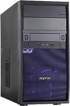 Approx Edison Torre Negro - Caja de Ordenador (Torre, PC, SPCC, Negro, Micro ATX, 1x 80 mm): Amazon.es: Electrónica