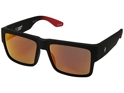 af8fdf54d1e Amazon.com   Spy Cyrus Sunglasses Matte Black Red Fade with Happy ...