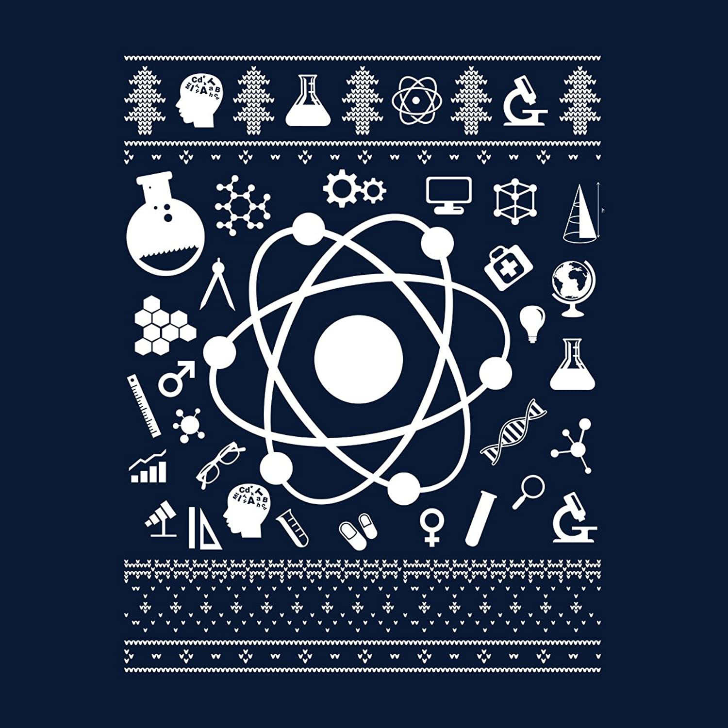 Science Christmas Knit Men's Varsity Jacket