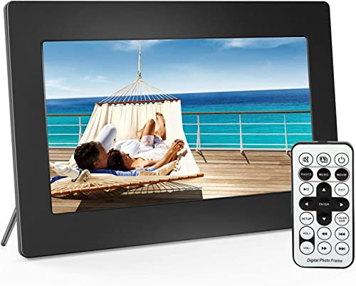 Digital Picture Frame 10 Inch Widescreen – 1280 x 800 IPS Hi-Res Digital Photo HD Video Frame with Video Player, MP3, Calendar, Zoom in, Create Slideshows with Remote Control