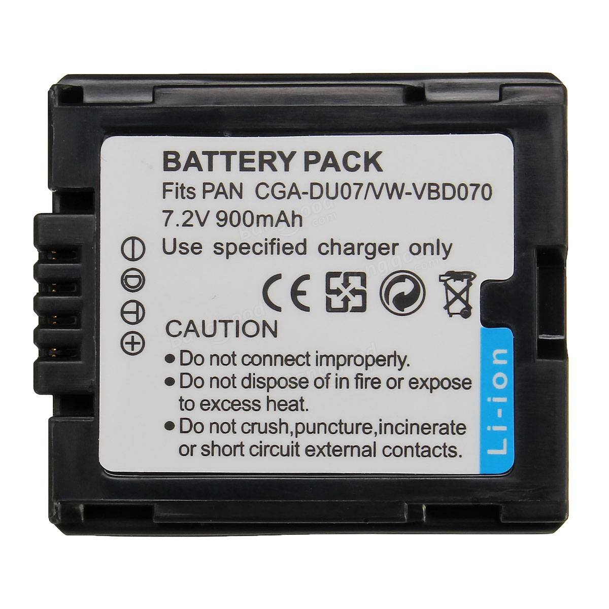 Saver CGA-DU07 900mAh 7.2V Lithium Battery For PANASONIC CGR-DU06 DU07 NV-GS10 GS100K GS17E PV-GS65