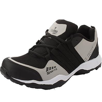 9be391fb7c05 Redon Men s Black Running Shoes - 8 UK (F-15 Black Grey--8)  Buy ...