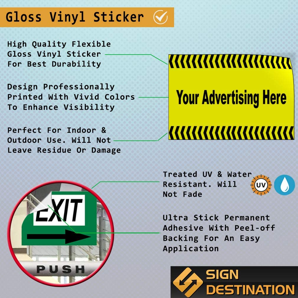 Custom Door Decals Vinyl Stickers Multiple Sizes Your Advertising Here Business Advertisement Outdoor Luggage /& Bumper Stickers for Cars Yellow 40X26Inches Set of 2