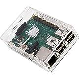 Raspberry Pi 3 Model B ケース 【KuGi】 ラズベリー・パイ 3 Model B 超小型パソコン 専用ケース Raspberry Pi 2 Model B & Pi Model B+ とも対応 クリア  ※Raspberry Pi 3 Model B 本体含まりません